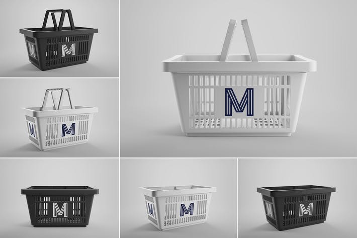 Shopping Basket Mockups Vol. 1