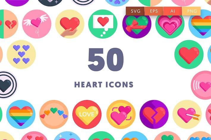 50 Иконки сердца