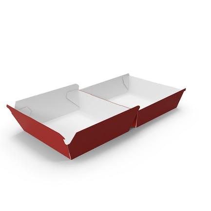 Burger Box Открытая Красный Белый