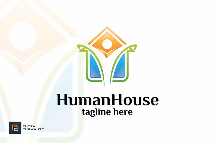 Thumbnail for Human House - Logo Template