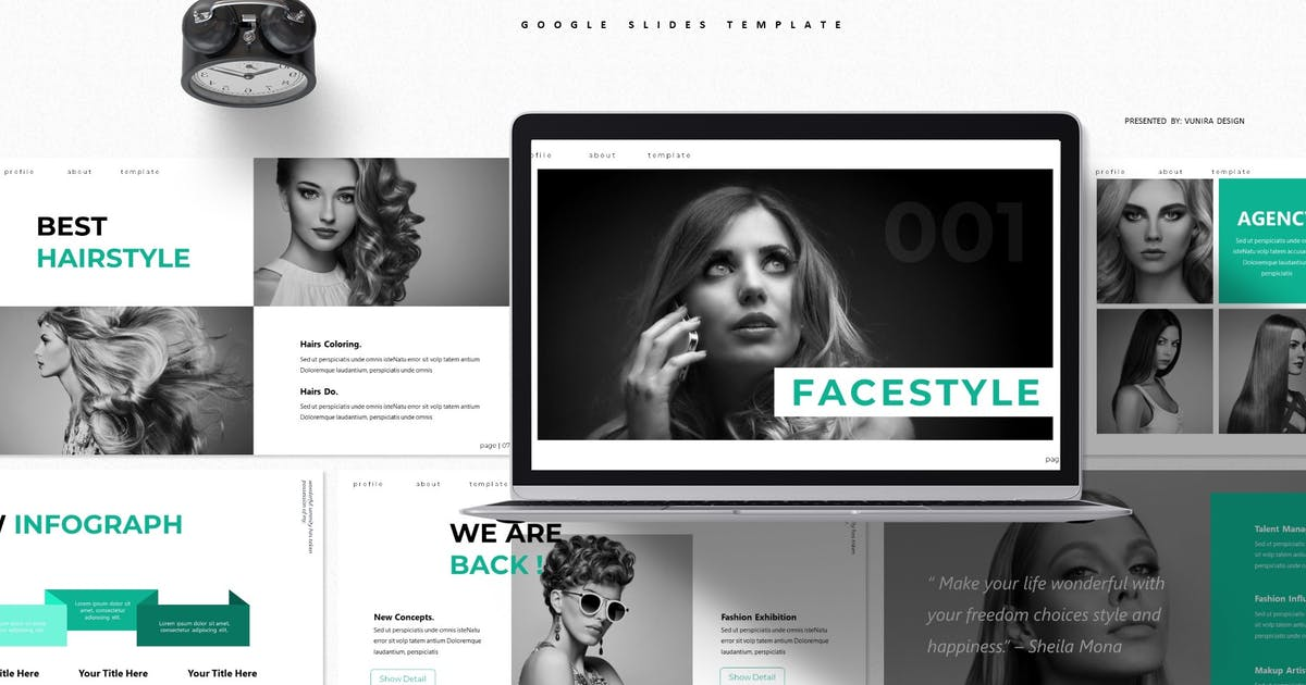 Download Fecestyle | Google Slides Template by Vunira