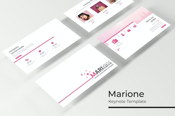 Thumbnail for Marione - Keynote Template