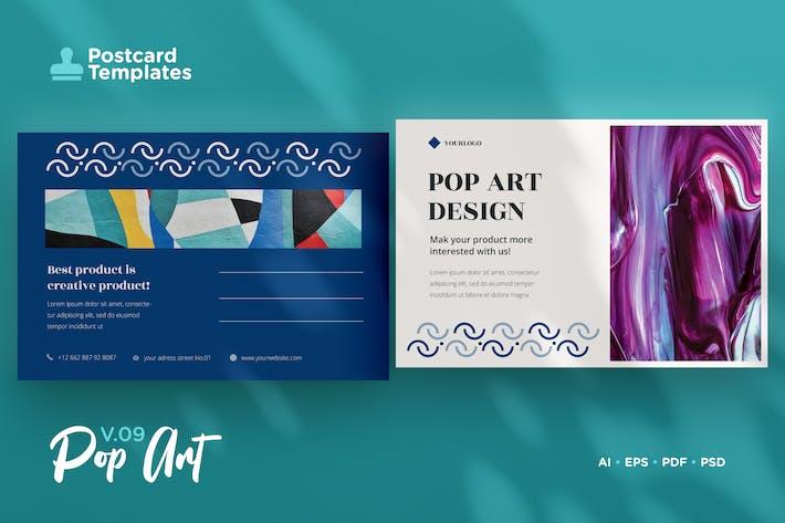 Thumbnail for Postcard Template Vol.09 Pop Art