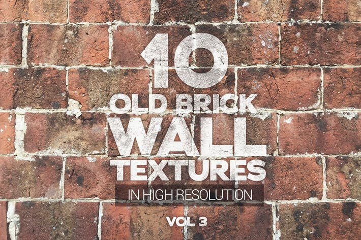 Cover Image For Vieille Brique Mur Textures Vol 3 x10