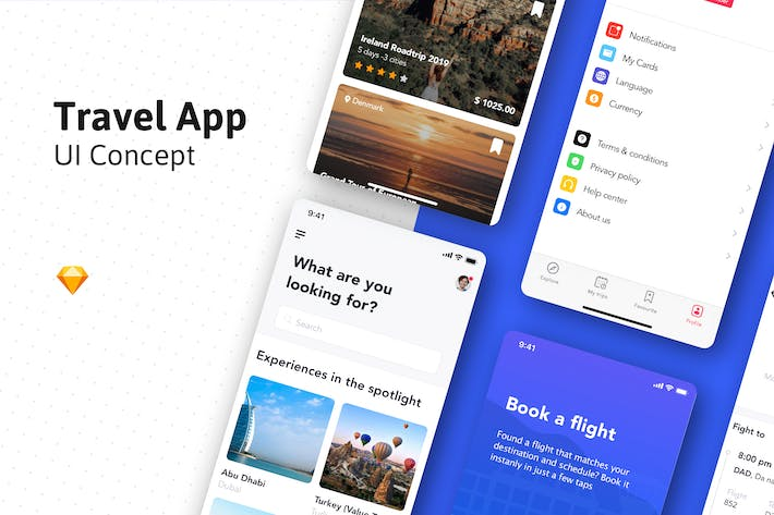 Thumbnail for Travel Guide App UI design Concept