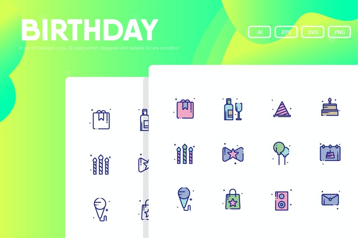Thumbnail for Birthday Party Icon Pack