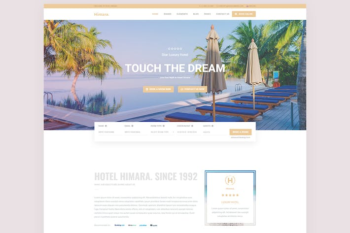Thumbnail for Hotel Himara - Hotel Booking Template
