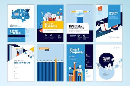Broschüren Cover Design und Flyer Layout-Vorlagen