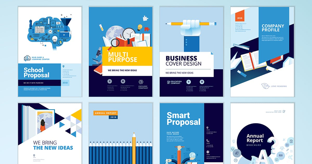 Download Brochure cover design and flyer layout templates by PureSolution