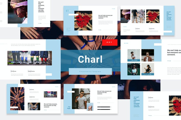 Thumbnail for Charl - Charity Powerpoint PräsentationsVorlage
