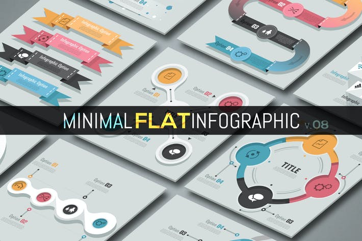 Thumbnail for Minimale flache Infografik v.08