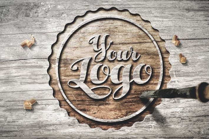 Thumbnail for Logo en bois Mockup 001