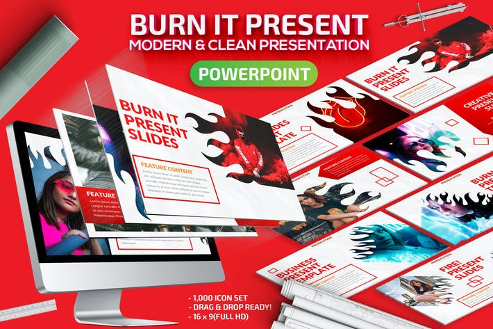 Thumbnail for Burn It Powerpoint Presentation Template