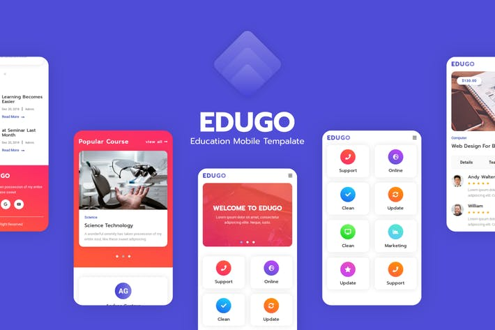 Edugo - Education Mobile Template