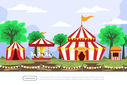 Circus - Background Illustration