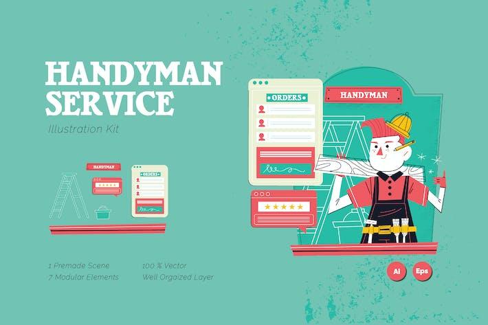 Heimwerker-Grafik-Illustrationsset