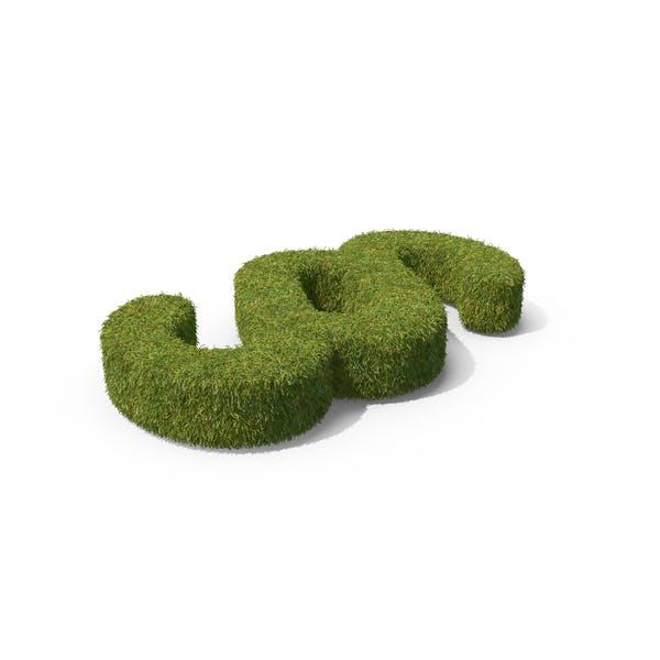 Símbolo de sección de hierba en el suelo