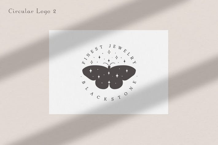 Thumbnail for Pre-made Logo Template. Buttefly logo circle 2.