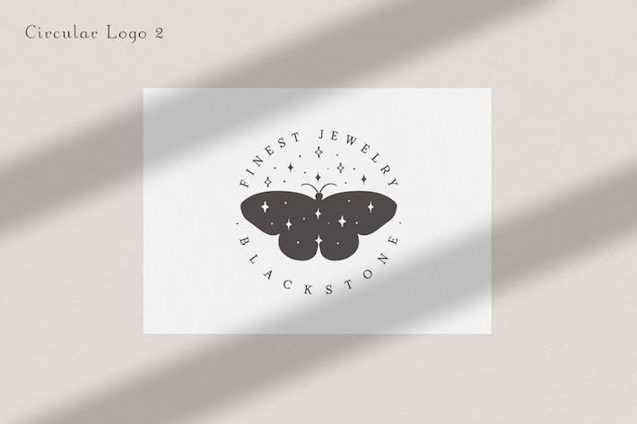 Pre-made Logo Template. Buttefly logo circle 2.