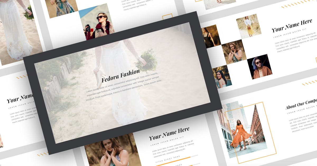 Download Fedora - Fashion Keynote Template by StringLabs