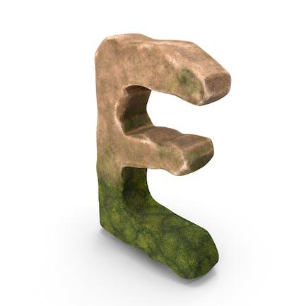 E Letter Mossy Rock