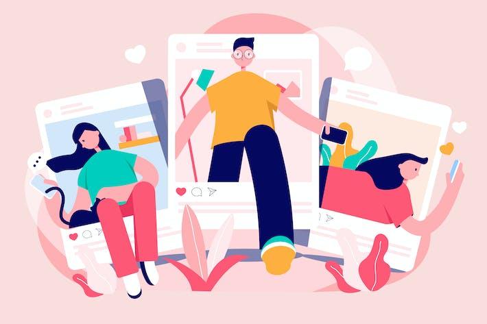 Thumbnail for Social Media Illustration