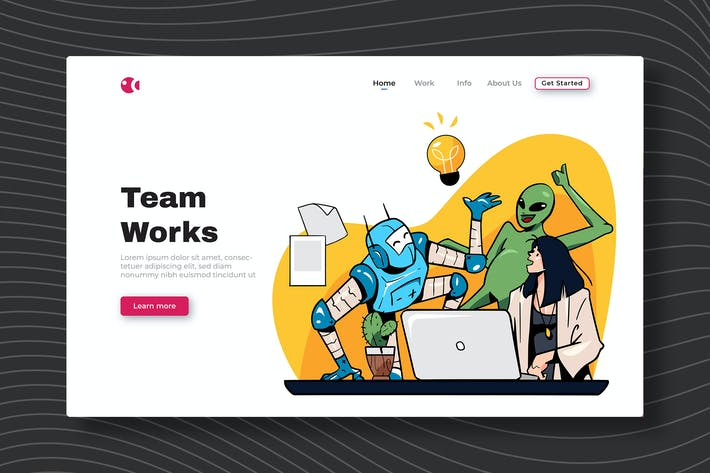 Thumbnail for Team Works - Landing Page