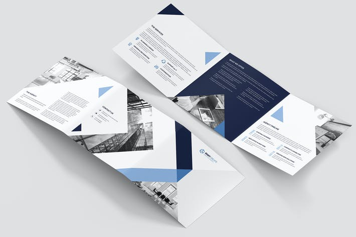 Thumbnail for Brochure – Digital Agency Tri-Fold Square