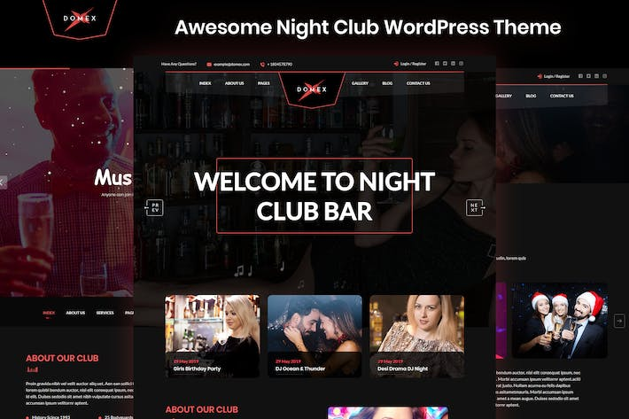 Thumbnail for Domex - Night Club WordPress Theme