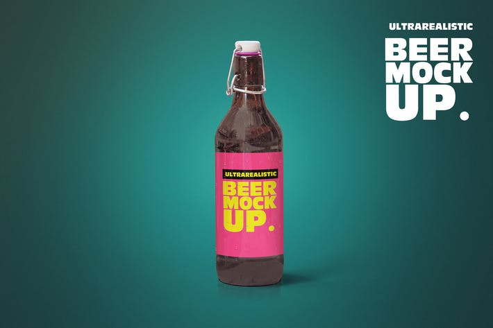 Thumbnail for Clean 50cl Beer Cap Mockup