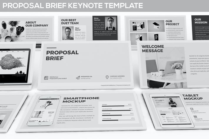 cover image for proposal brief keynote template