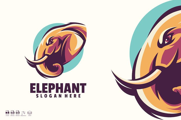 Thumbnail for elephant logo template