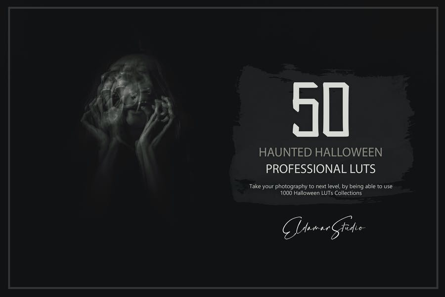 50 Haunted Halloween LUTs and Presets Pack
