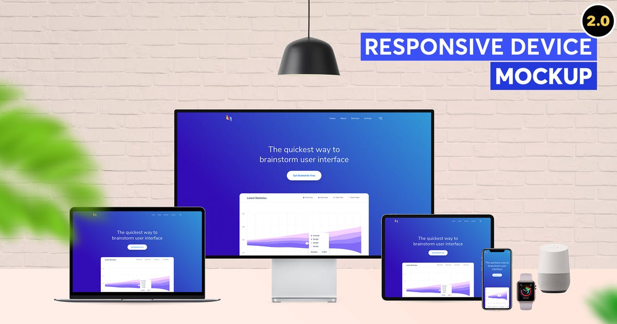 Download Responsive Device Mockup 2.0 by tunerpixel