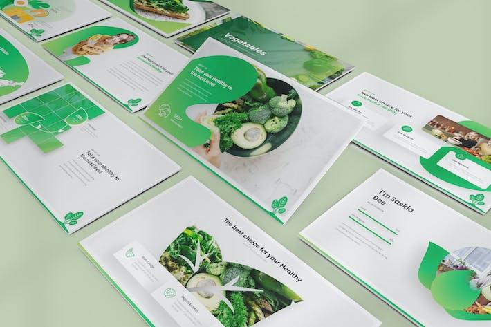 Шаблоны Keynote для овощей