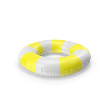 Pool Tubes with Yellow Striped Print