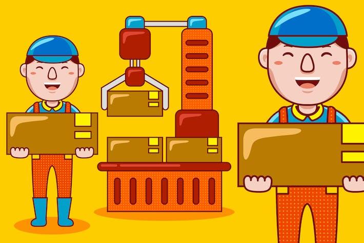 Фабричный рабочий профессия мультфильм