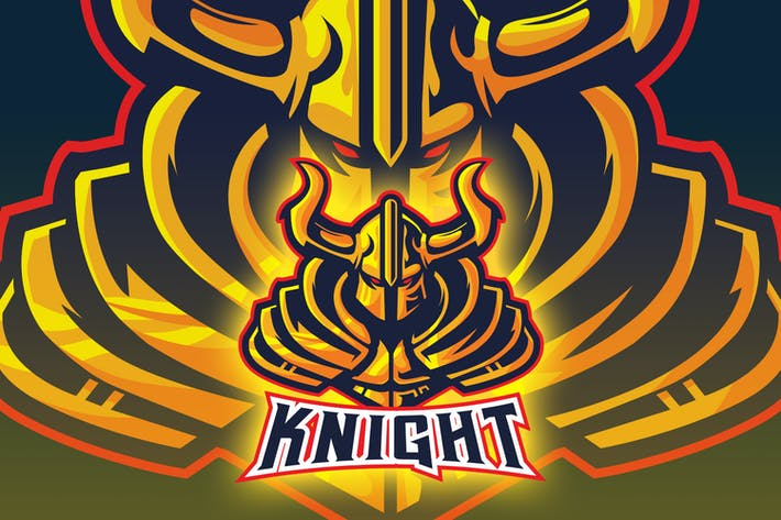 Thumbnail for Gold Knight Esport Logo
