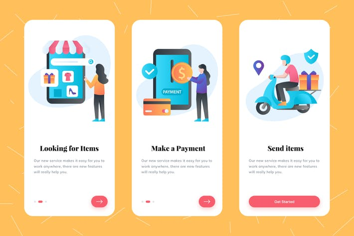 Thumbnail for Ecommerce Illustration Onboarding