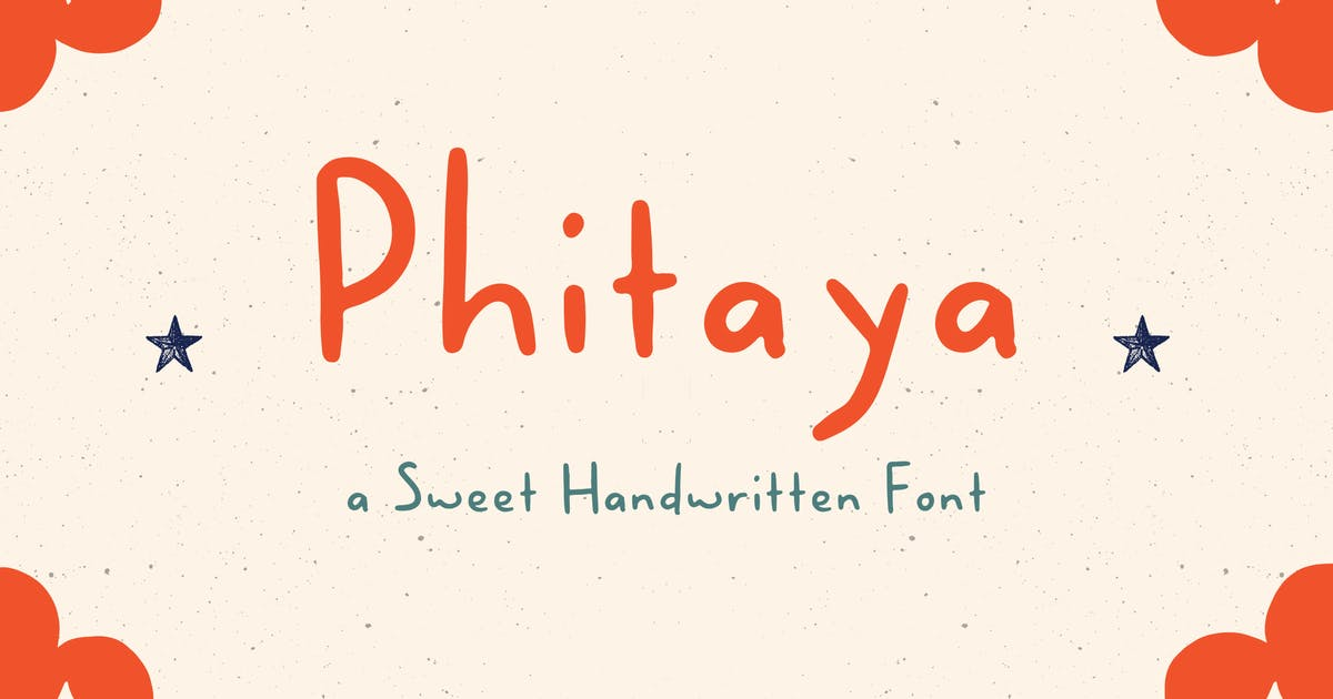 Download Phitaya - a Sweet Handwritten Font by peterdraw