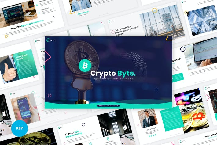 Cover Image For Byte - Cryptocurrency Keynote Template