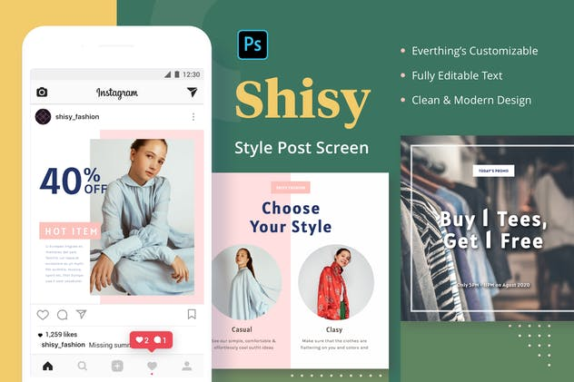 Shisy Style - Instagram Feed Post - product preview 0