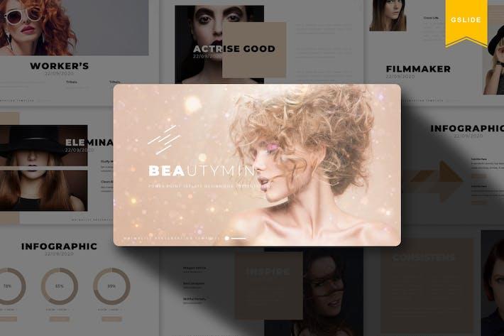 Thumbnail for Beautymin   Шаблон Powerpoint