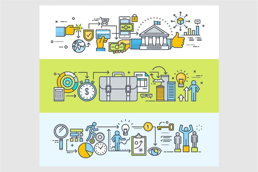Set of Business Process Illustrations