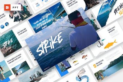 Strike - Fishing Club Powerpoint Template