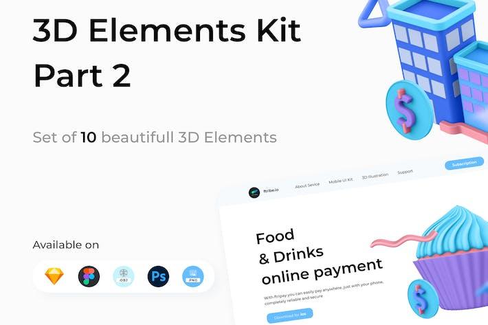 3D Elements Kit - Library Part 2