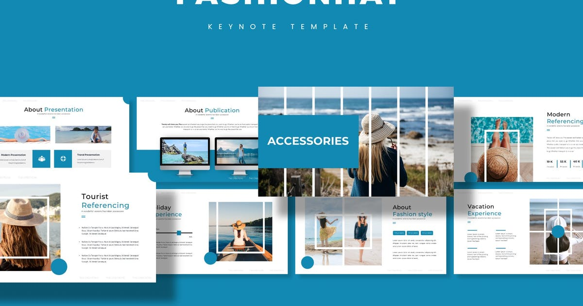 Download FashionHat - Keynote Template by aqrstudio