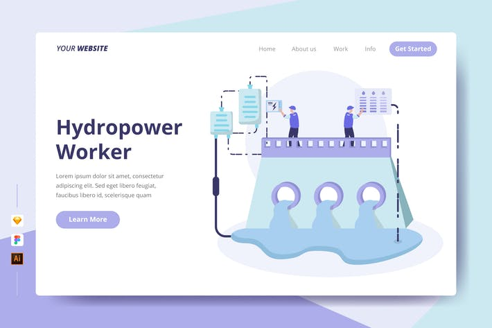 Thumbnail for Hydropower Worker - Landing Page