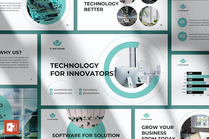 Thumbnail for IT-Software PowerPoint Presentation Template