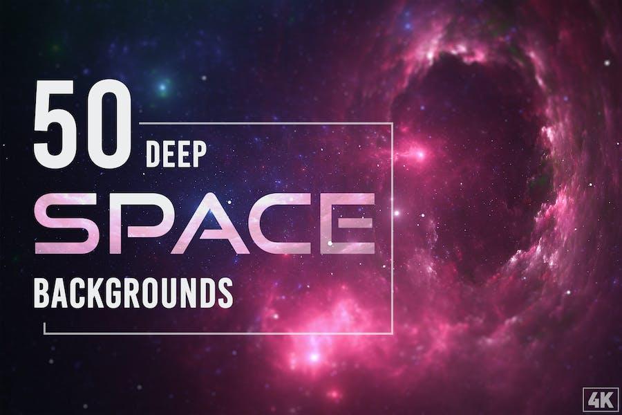 50 Deep-Space-Hintergründe - Band 1